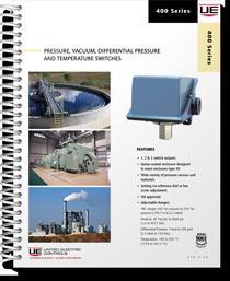 400 Series Pressure, Vacuum, Differential Pressure and Temperature Switches