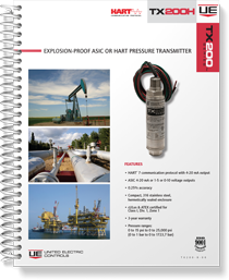 TX200H Explosion-Proof ASIC or HART Pressure Transmitter