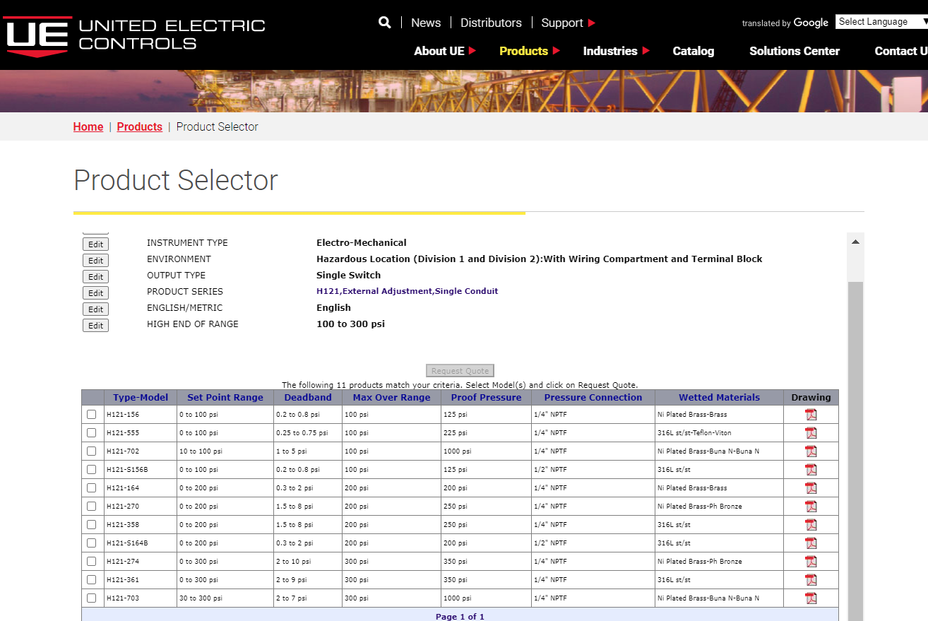 wireless product selector